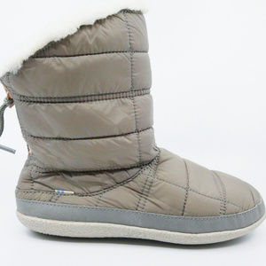 33ffee9188298 Toms Womens Inez Cement Quilted Grey Bootie Boots NWT